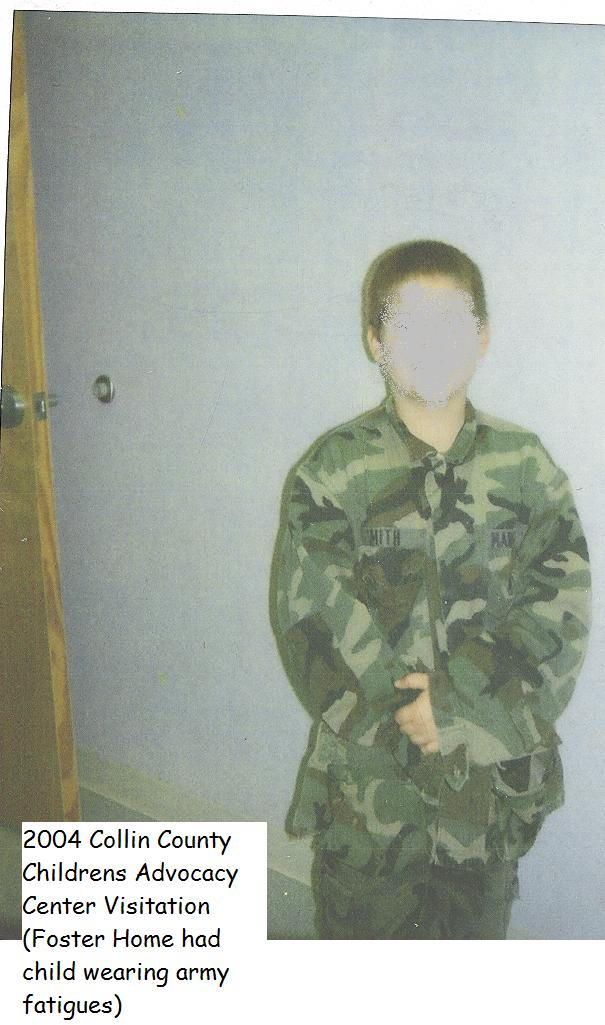 Foster Child in Army Fatigues